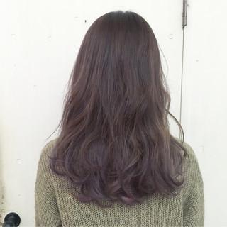 パープル グレージュ ハイトーン ストリート ヘアスタイルや髪型の写真・画像