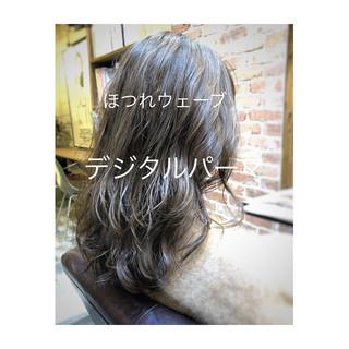 外ハネ アンニュイほつれヘア デジタルパーマ ロング ヘアスタイルや髪型の写真・画像