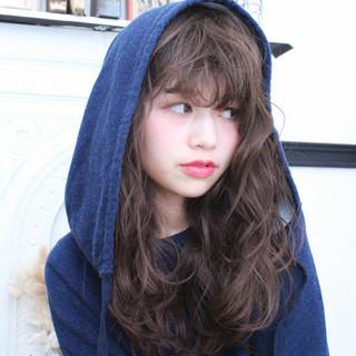 冬 アッシュ セミロング ヘアアレンジ ヘアスタイルや髪型の写真・画像