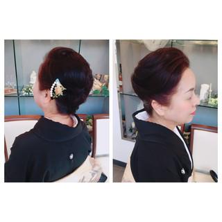 和装 ボブ 着物 ヘアアレンジ ヘアスタイルや髪型の写真・画像