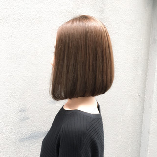 ボブ 大人女子 縮毛矯正 パーマ ヘアスタイルや髪型の写真・画像