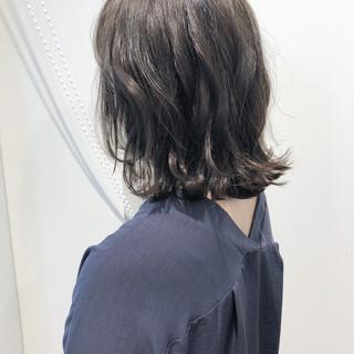 ロブ ゆるふわ ウェーブ ナチュラル ヘアスタイルや髪型の写真・画像