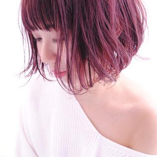 ガーリー こなれ感 レッド 大人女子 ヘアスタイルや髪型の写真・画像