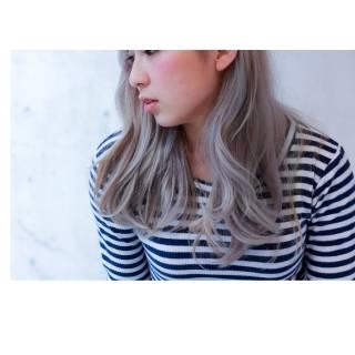 ストリート ミディアム 春 ウェットヘア ヘアスタイルや髪型の写真・画像