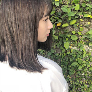 モード ミディアム ヘアスタイルや髪型の写真・画像
