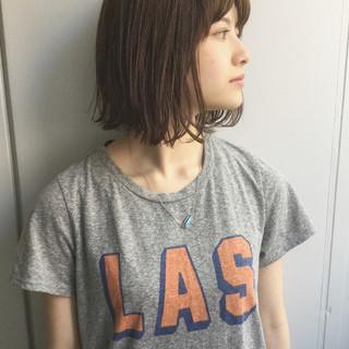 切りっぱなし 外国人風 大人かわいい 透明感 ヘアスタイルや髪型の写真・画像