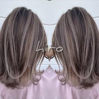 ラベンダーピンク イルミナカラー バックコーミング 外国人風カラー ヘアスタイルや髪型の写真・画像