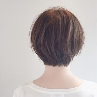 大人女子 似合わせ ショートボブ ナチュラル ヘアスタイルや髪型の写真・画像