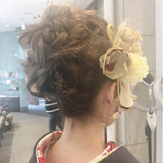 ロング ヘアアレンジ グラデーションカラー ハーフアップ ヘアスタイルや髪型の写真・画像