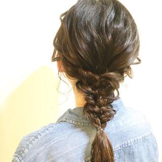 ショート 大人かわいい 簡単ヘアアレンジ ポニーテール ヘアスタイルや髪型の写真・画像