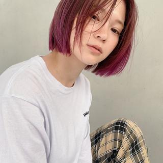 アウトドア ヘアアレンジ スポーツ ボブ ヘアスタイルや髪型の写真・画像
