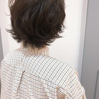 透明感 ナチュラル ウルフカット ショートヘア ヘアスタイルや髪型の写真・画像