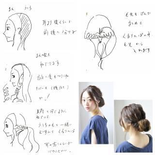 ナチュラル フェミニン ヘアスタイルや髪型の写真・画像