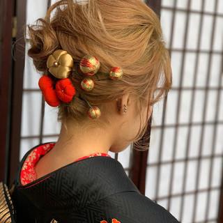 モード ヘアアレンジ ボブ 切りっぱなしボブ ヘアスタイルや髪型の写真・画像