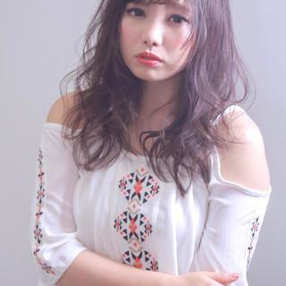 デート 女子会 エレガント ロング ヘアスタイルや髪型の写真・画像