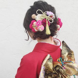 ヘアアレンジ 成人式 ロング アップスタイル ヘアスタイルや髪型の写真・画像