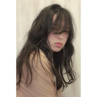 黒髪 ナチュラル ロング モテ髪 ヘアスタイルや髪型の写真・画像
