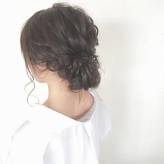 ナチュラル シニヨン 大人かわいい ヘアアレンジ ヘアスタイルや髪型の写真・画像 ヘアスタイルや髪型の写真・画像