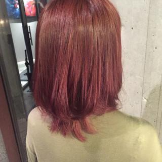 グラデーションカラー ナチュラル ハイライト ピンク ヘアスタイルや髪型の写真・画像