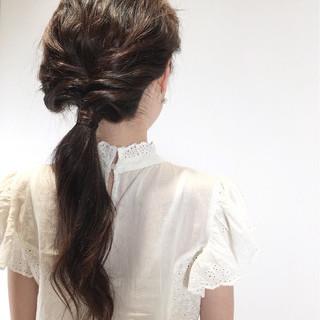 大人かわいい 簡単ヘアアレンジ かわいい ナチュラル ヘアスタイルや髪型の写真・画像 ヘアスタイルや髪型の写真・画像