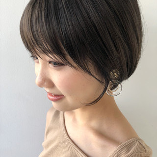 ハンサムショート ヘアアレンジ ナチュラル マッシュショート ヘアスタイルや髪型の写真・画像