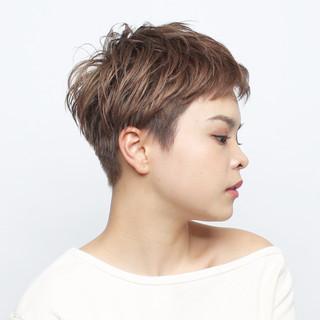 ショート 大人女子 大人可愛い ベリーショート ヘアスタイルや髪型の写真・画像 ヘアスタイルや髪型の写真・画像