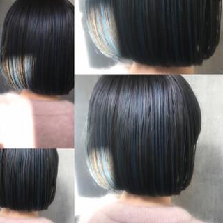 オフィス ナチュラル ヘアアレンジ ボブ ヘアスタイルや髪型の写真・画像