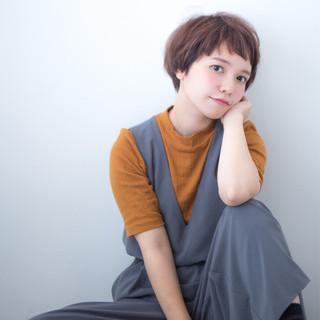 外国人風 パーマ ショート 前髪あり ヘアスタイルや髪型の写真・画像