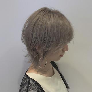 ウルフ女子 ナチュラルウルフ ニュアンスウルフ ストリート ヘアスタイルや髪型の写真・画像