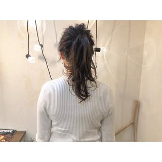 ポニーテールアレンジ ヘアアレンジ デート 簡単ヘアアレンジ ヘアスタイルや髪型の写真・画像 ヘアスタイルや髪型の写真・画像