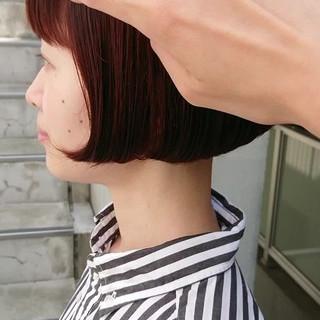 ミニボブ 前髪あり ナチュラル 前下がりボブ ヘアスタイルや髪型の写真・画像