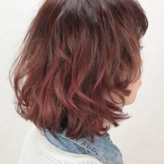 愛され モテ髪 ハイライト グラデーションカラー ヘアスタイルや髪型の写真・画像
