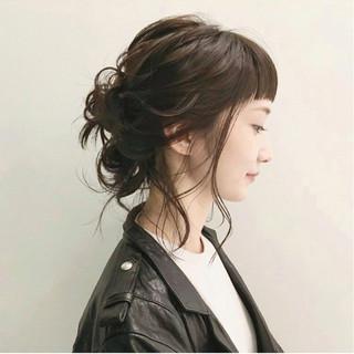 ミディアム 簡単ヘアアレンジ ショート 大人かわいい ヘアスタイルや髪型の写真・画像