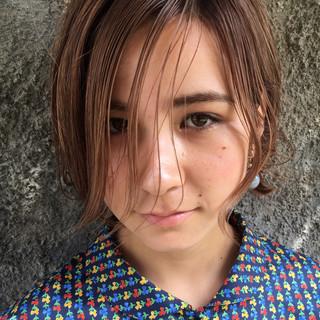 ピュア 色気 透明感 ウェットヘア ヘアスタイルや髪型の写真・画像