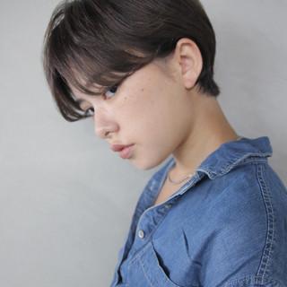 ショート ナチュラル ブリーチ ウェットヘア ヘアスタイルや髪型の写真・画像 ヘアスタイルや髪型の写真・画像