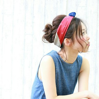 ヘアアクセ 夏 ショート ヘアアレンジ ヘアスタイルや髪型の写真・画像 ヘアスタイルや髪型の写真・画像