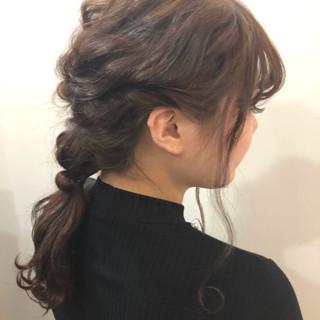 ロング ナチュラル ヘアアレンジ 編み込み ヘアスタイルや髪型の写真・画像