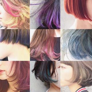 前髪あり ストリート ハイライト 外国人風 ヘアスタイルや髪型の写真・画像