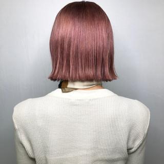 ハイトーン ボブ ピンク ヘアカラー ヘアスタイルや髪型の写真・画像