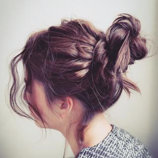 大人かわいい ショート ミディアム 簡単ヘアアレンジ ヘアスタイルや髪型の写真・画像