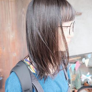 外国人風 ナチュラル ミディアム 黒髪 ヘアスタイルや髪型の写真・画像 ヘアスタイルや髪型の写真・画像