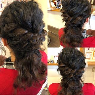 ナチュラル 結婚式 ハーフアップ ヘアアレンジ ヘアスタイルや髪型の写真・画像
