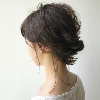 ミディアム ヘアアレンジ ナチュラル 女子会 ヘアスタイルや髪型の写真・画像