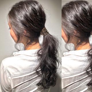 簡単ヘアアレンジ ヘアアレンジ 外国人風 冬 ヘアスタイルや髪型の写真・画像