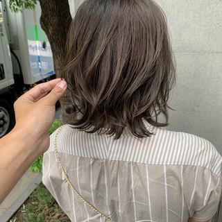 切りっぱなしボブ ナチュラル ショートボブ ボブ ヘアスタイルや髪型の写真・画像