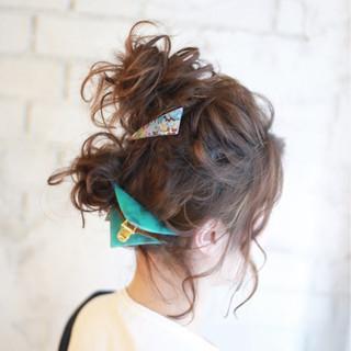 ヘアアレンジ ショート 簡単ヘアアレンジ 夏 ヘアスタイルや髪型の写真・画像 ヘアスタイルや髪型の写真・画像
