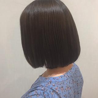 ガーリー 内巻き ヘアアレンジ 切りっぱなしボブ ヘアスタイルや髪型の写真・画像