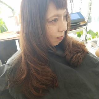 デジタルパーマ 艶髪 ロング 縮毛矯正ストカール ヘアスタイルや髪型の写真・画像
