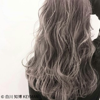 外国人風 ロング ニュアンス 冬 ヘアスタイルや髪型の写真・画像