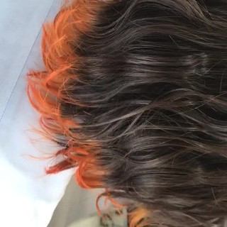 イエロー オレンジ 女子力 カール ヘアスタイルや髪型の写真・画像